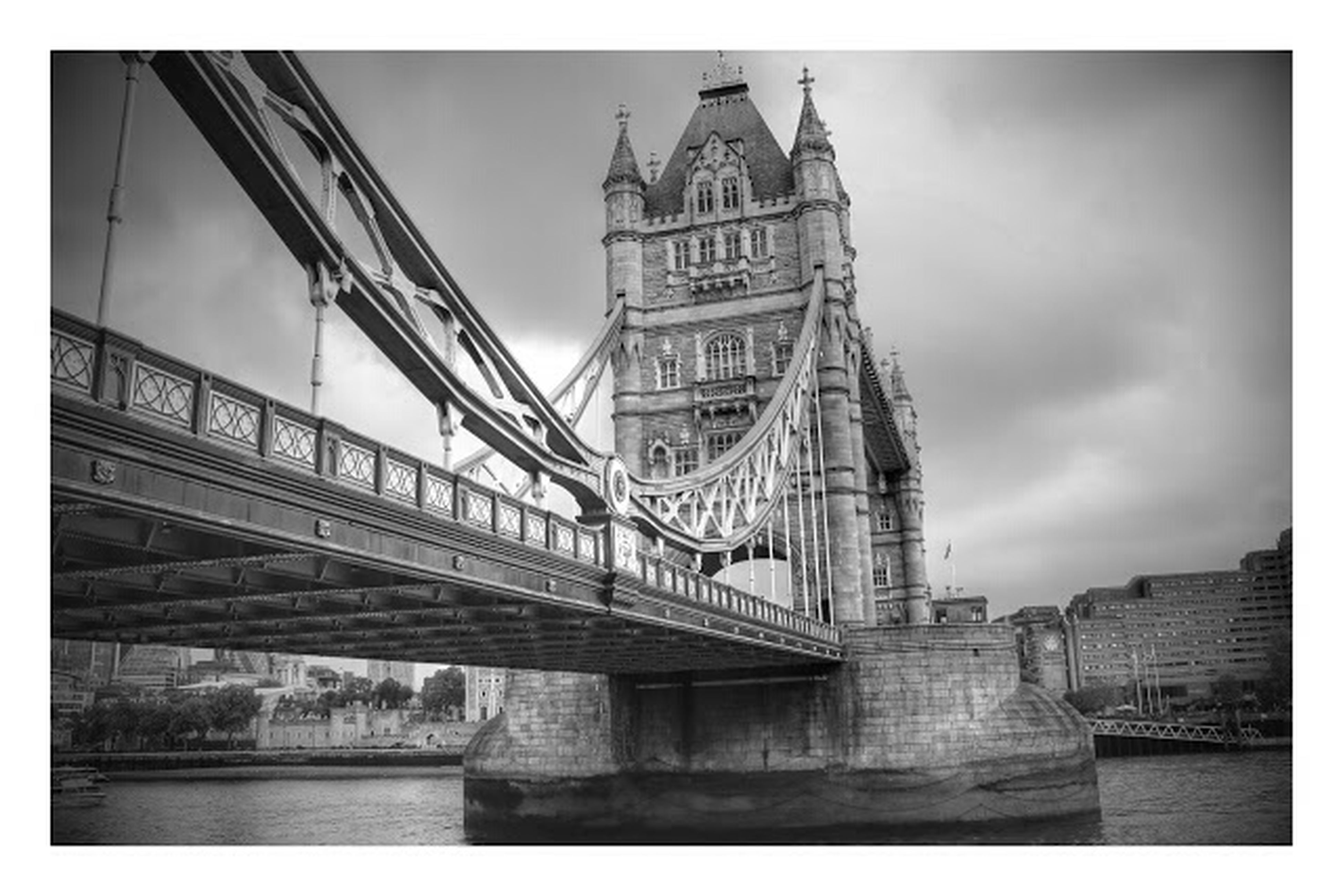 transfer print, architecture, built structure, auto post production filter, building exterior, bridge - man made structure, sky, connection, city, river, water, bridge, travel destinations, famous place, international landmark, capital cities, engineering, waterfront, travel, low angle view