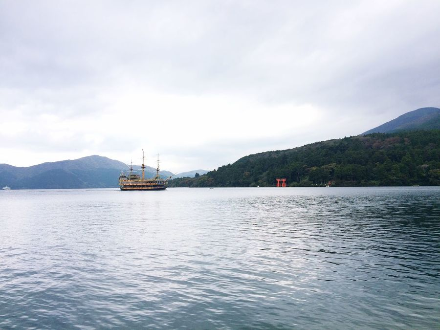 Hakone Sky Mountain Nature Water Beauty In Nature Outdoors Mode Of Transport Scenics Nautical Vessel Tranquility Lake Boat Ferry