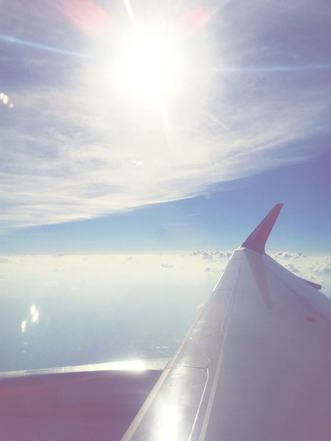 Up To The Sky On The Way On The Plane ✈ Chiangrai - Bangkok Thailand.