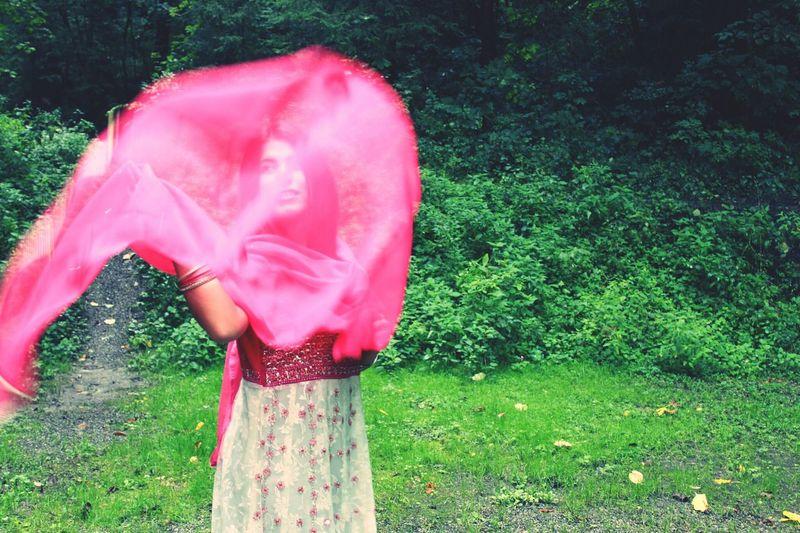 India Saree Taking Photos That's Me in nature ♡
