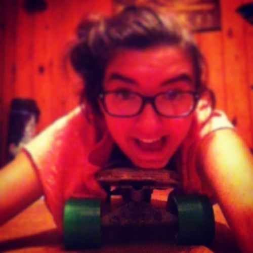 just casually laying on my longboard...
