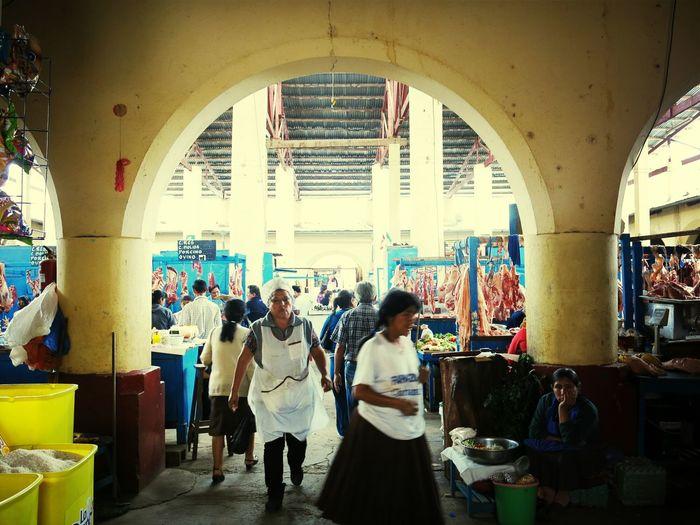 Mercado Huanuco Peru Gente