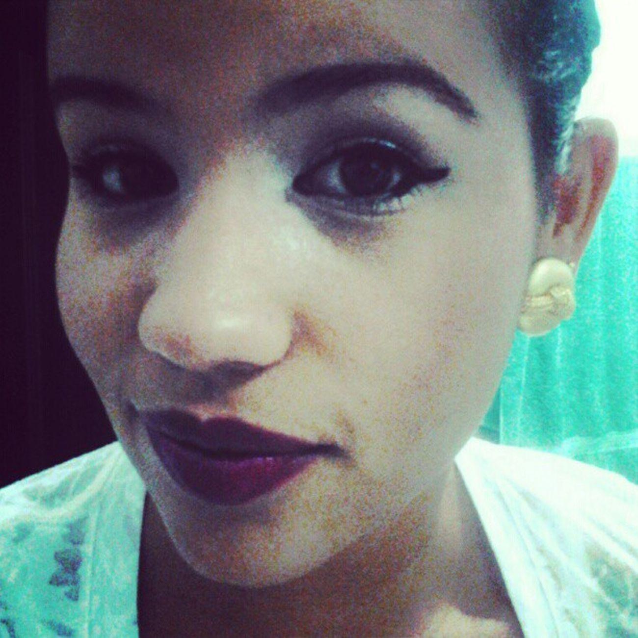 Purple lipstick rocked the night LastNight Randomnight OutWithGirls