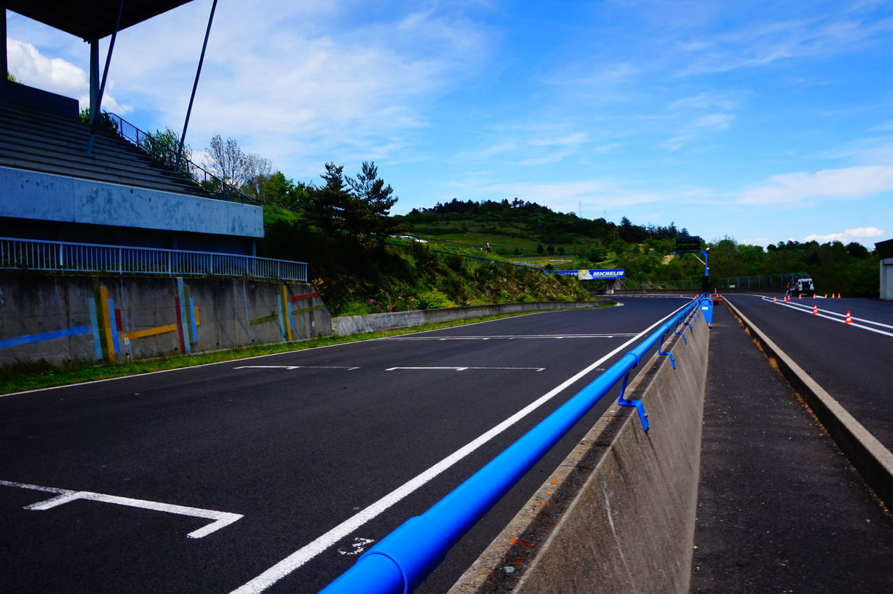 road, the way forward, no people, transportation, tree, day, sky, outdoors, sport, blue