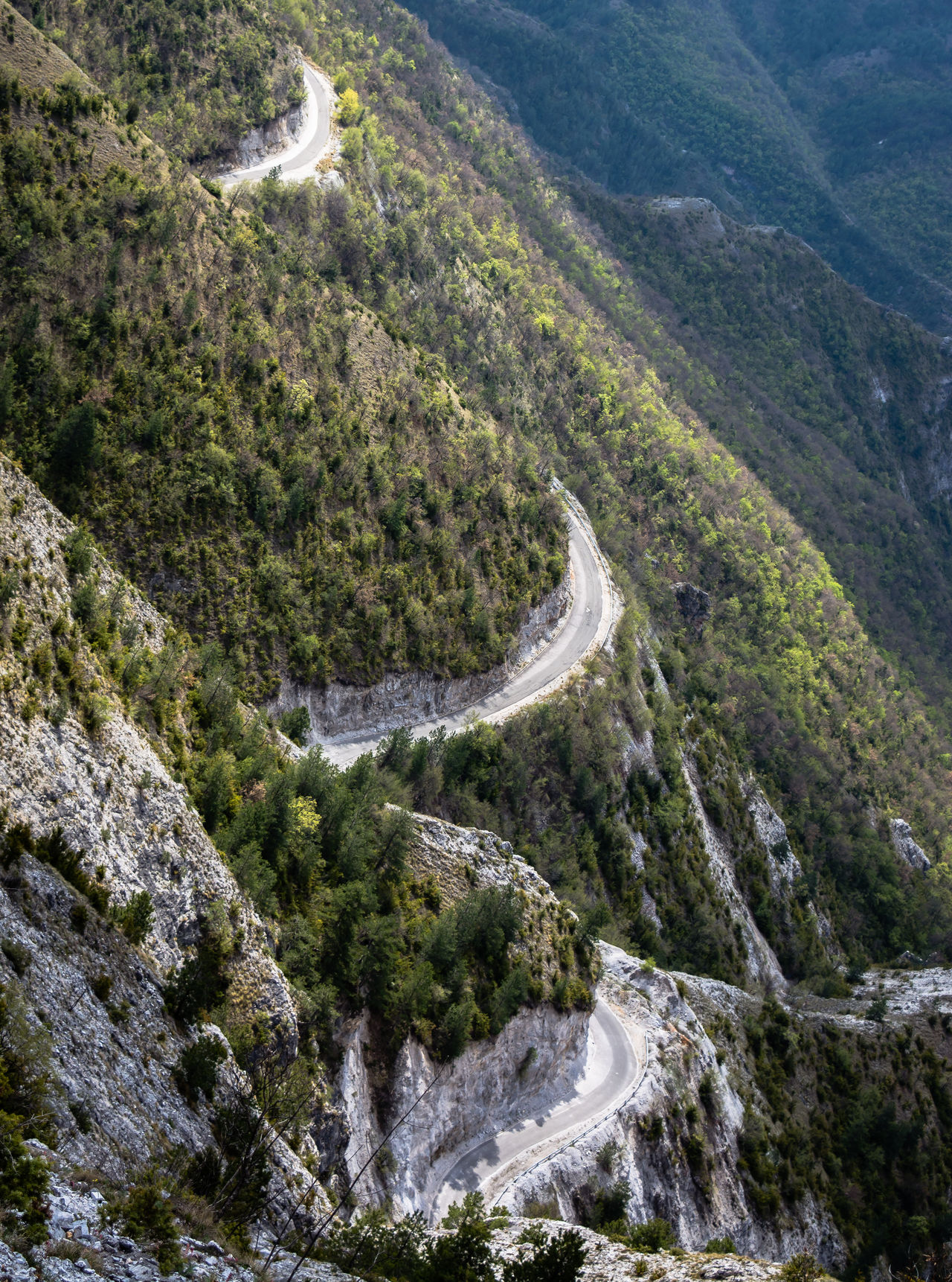 Triple C Abandoned Chicane Curve Day Explore Forest Green High Angle View Kozjak Lake Landscape Macedonia Mountain Mountain Road Nature Nature Outdoors Road Road Rocks Spring Travel Trees