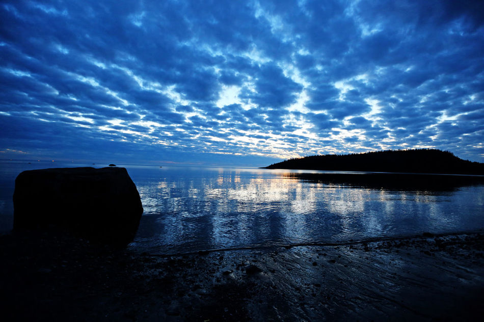 EyeEm EyeEm Best Edits EyeEm Gallery Love Nature Sky St Fabien Sur Mer ,Quebec, Canada Tranquil Scene Cloud - Sky Reflection Sunset Bay Quebec Paysage Nature_collection Summer Natural Beauty EyeEm Nature Lover Nature Photography Water Colour Of Life Vacations Cloud Blue