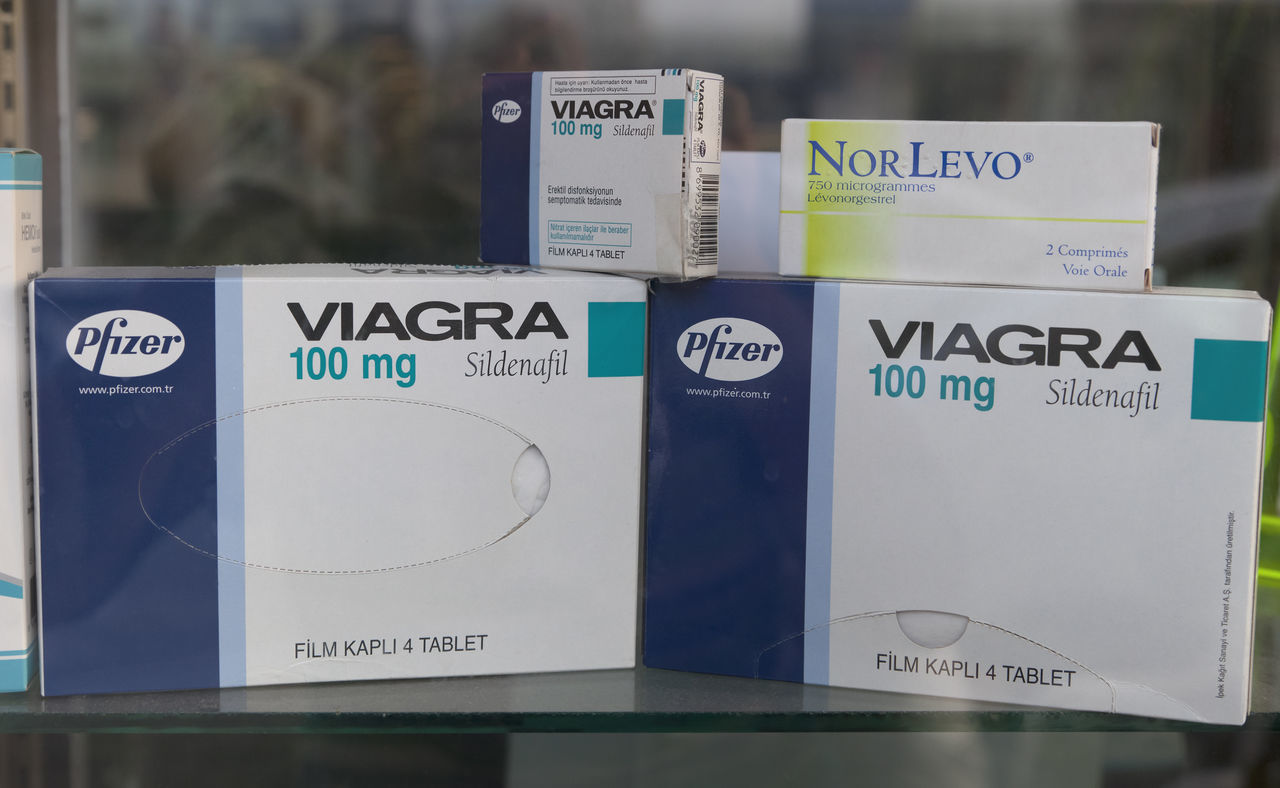 Viagra tablets in window display Anti-impotence Capsule Close-up Drug Dysfunction Erectile Fertility Health Healthcare And Medicine Impotence Love Medical Medicaments Medication Medicine Pharmacy Pill PotenceeEveryday Preparation  Sexual_nature Sexualenergy Tablet Text Viagra Window Display