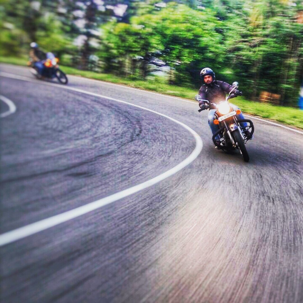 Education is important but riding is importanter. Motorcycle Riding Blurred Motion Road Real People Biker Motion Speed Transportation Outdoors Men Lifestyles Asphalt Day One Person Sports Race Close-up Headwear PeopleBullet500ccfieldindia] Royalenfieldbeasts bullet500cc