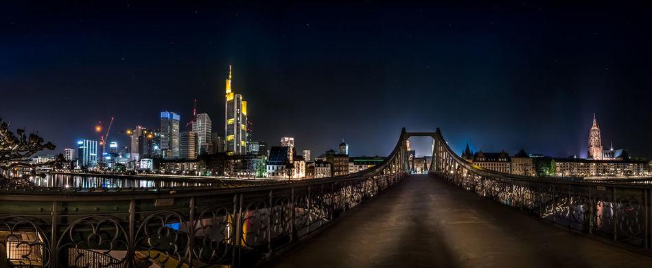 Beautiful stock photos of frankfurt, Architecture, Bridge - Man Made Structure, Building Exterior, Built Structure