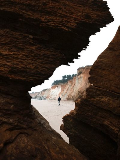 A glimpse of you Beach Beauty In Nature Natural Arch Men Outdoors One Man Only Adventure