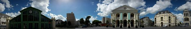 Panorama Cityscape Maison Des Arts Performing Arts Venue Grand Marché Market Place Sunny Day Samsungphotography Samsung