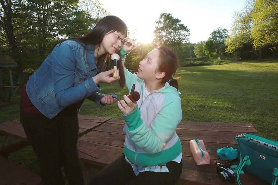 Beautiful stock photos of make-up, Applying, Attractive, Beautiful, Bench