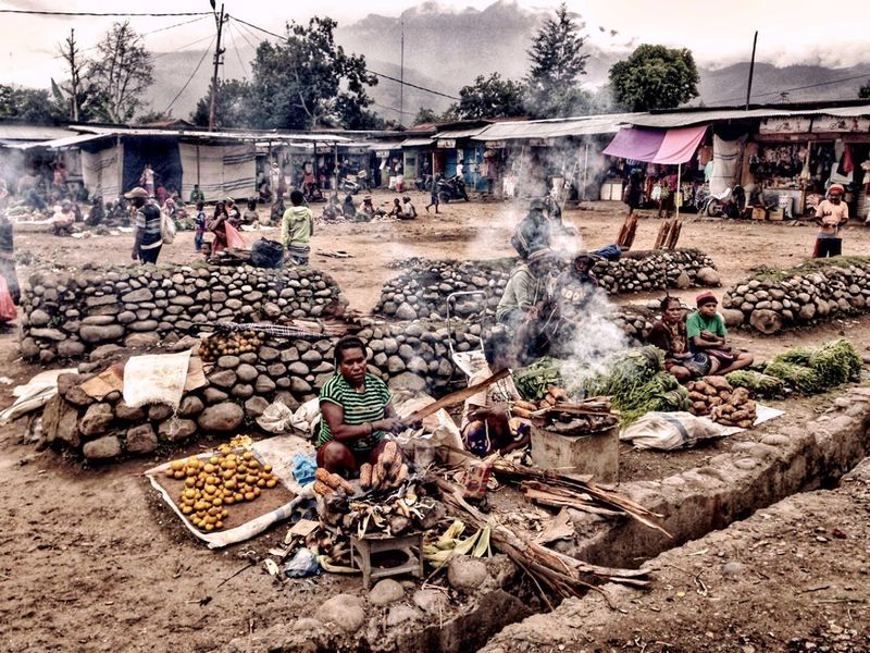 Baliem Traditional Market in Papua Indonesia Market Traditional Papua INDONESIA People