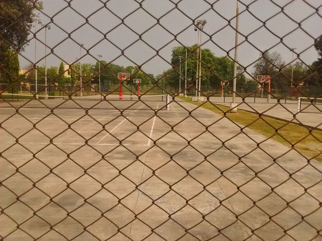 Chainlink Fence Basketball Sports