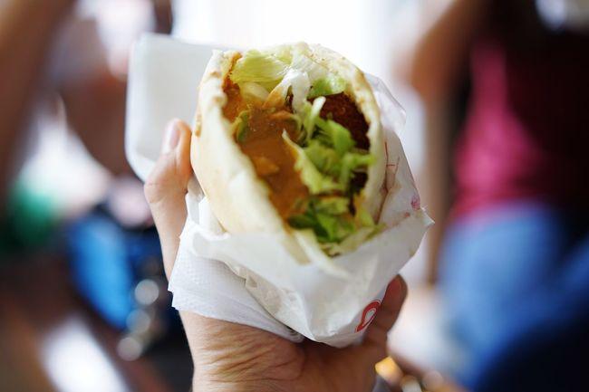 Kebab Schawarma Streetfood Halloumi Falafel Fast Food Sandwich