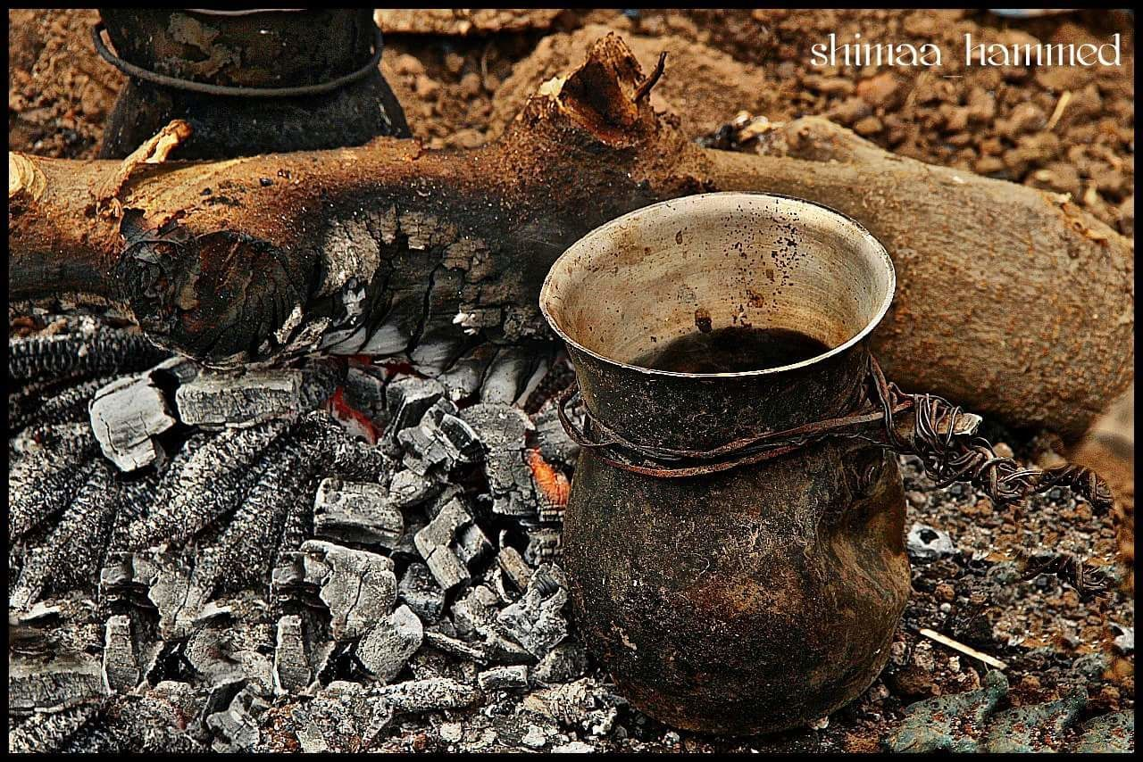 High Angle View No People Day Close-up Outdoors Egypt Outing EyeEmNewHere Tea Time Tea - Hot Drink Wooden Fire Field Resting Time
