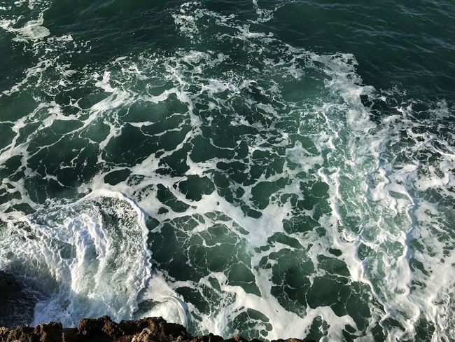 High Angle View Sea Nature No People Beauty In Nature Outdoors Wave Water Day
