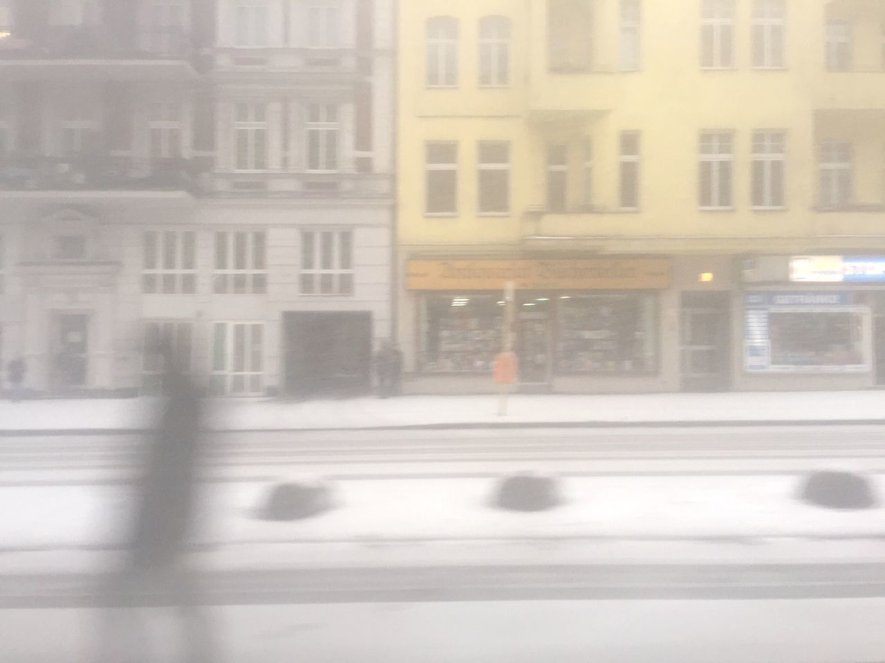 weather, window, street, winter, cold temperature, transportation, outdoors, building exterior, architecture, road, day, snow, no people, city, nature
