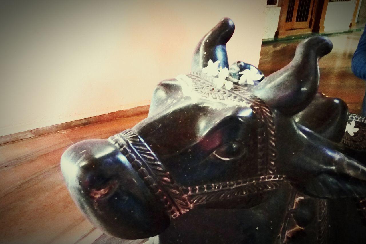 Close-up Nandi Sculpture
