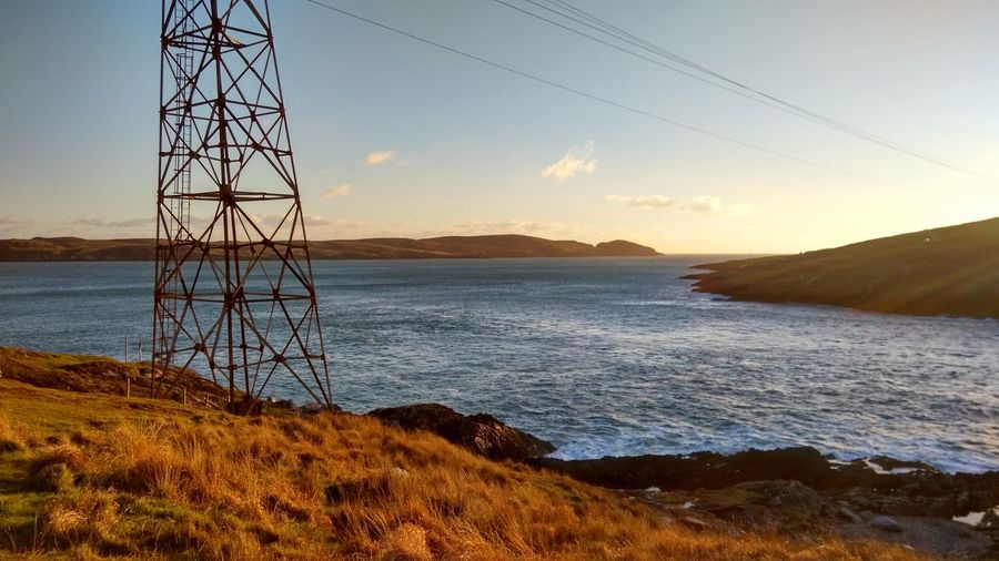Dursey Ocean Sky Sunset Water Nature Beauty In Nature Outdoors Scenics No People Landscape Day Sea Horizon Over Water Waves Sunlight Irish Eire Ireland Cable Car Rust Old Industrial Metal Steel