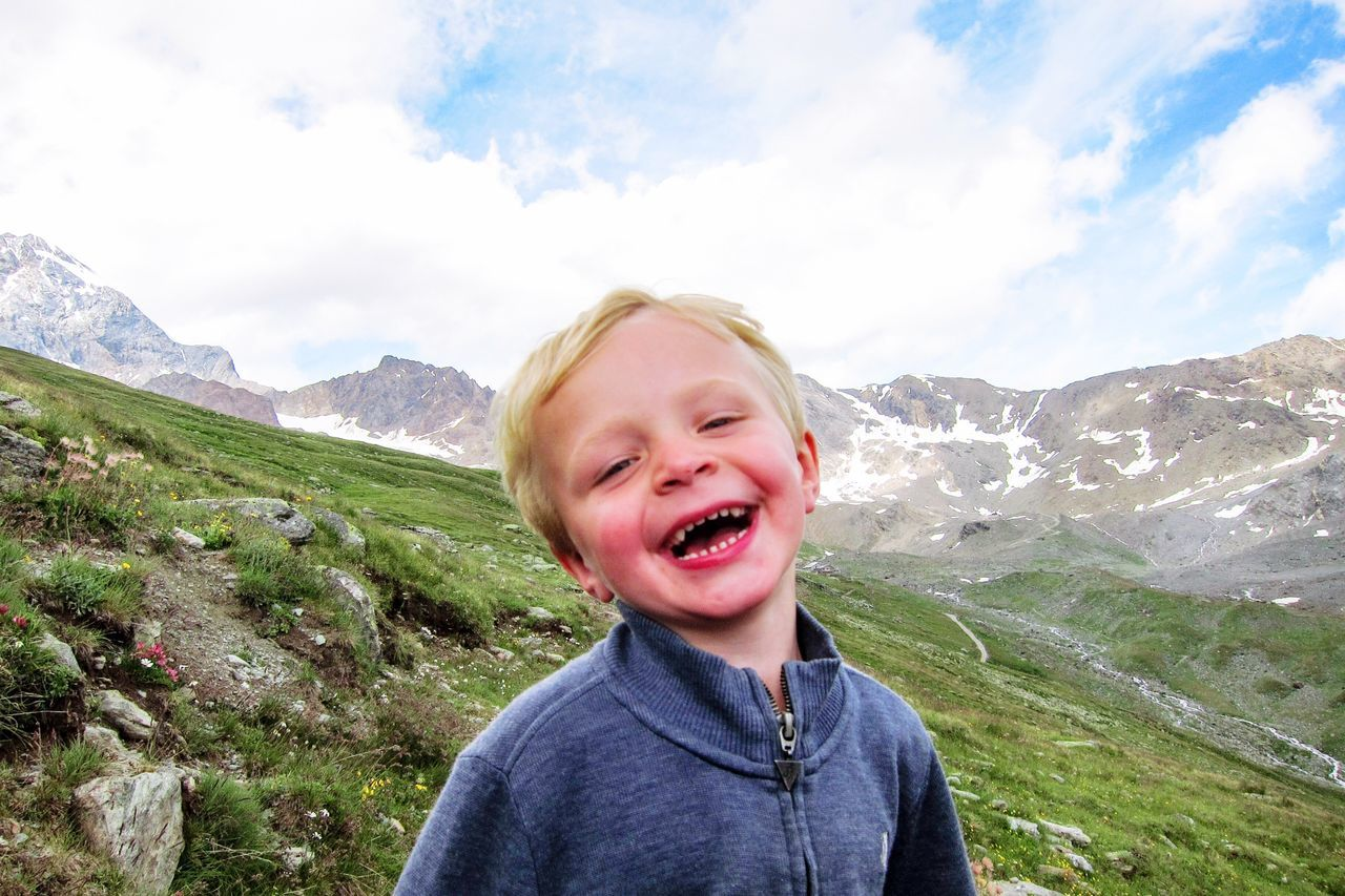 Smile Mountain Portrait Smiling Alps Hiking Boy Family Vacation Vacation Adventure Nature Travel Italy Family People And Places People And Places. Uniqueness