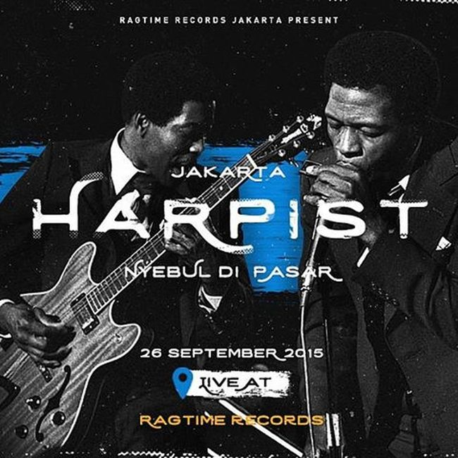 . Live performance & jamming sessions with Jakarta harpist. Tomorrow @ragtimerecordsjakarta Harmonica Santamusiclub Pasarsanta Jakartaharpist Jktevents Nyebuldipasar Ragtimerecordsjakarta