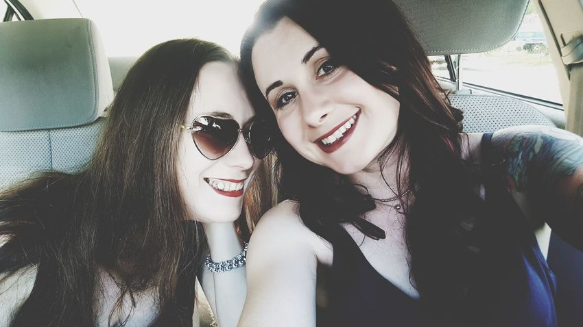 Car Interior Vehicle Interior Two People Car Adults Only Adult Friendship Young Adult Young Women Only Women Smiling People Window Transportation Headshot Travel Fun Happiness Togetherness Cheerful Art Is Everywhere