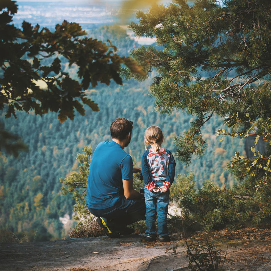Beautiful stock photos of familien, two people, child, tree, togetherness