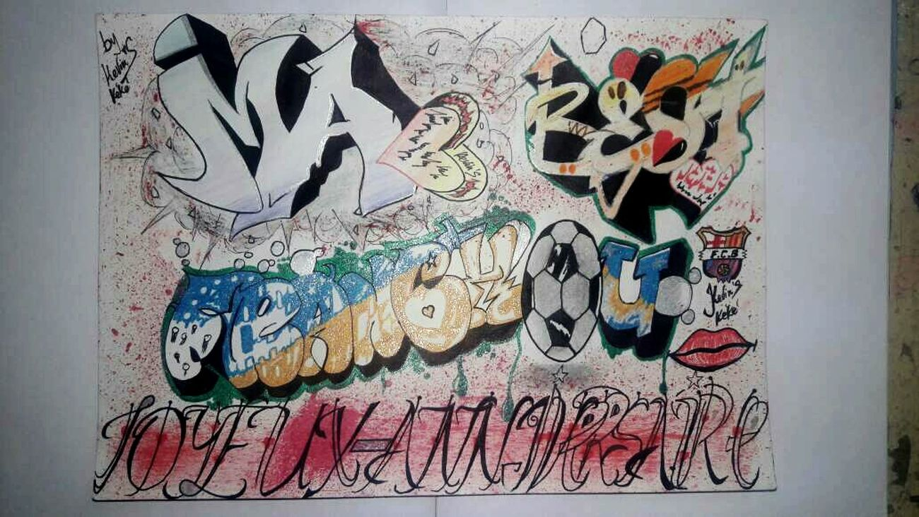 Graffiti Art Mon oeuvre Multi Colored Text Drawing - Art Product