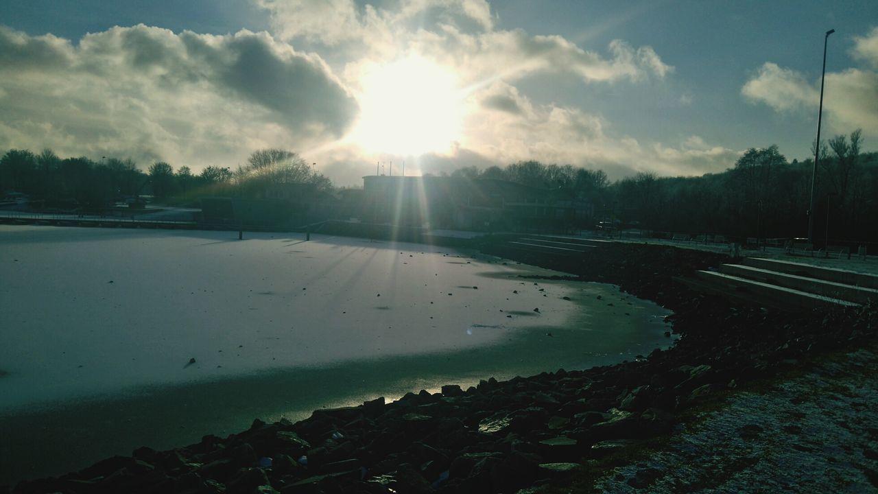 Saarland Bostalsee Winter