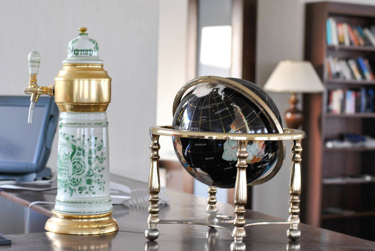 Bookshelf Day Globe Golden Indoors  Lamp Monde No People Handmade For You