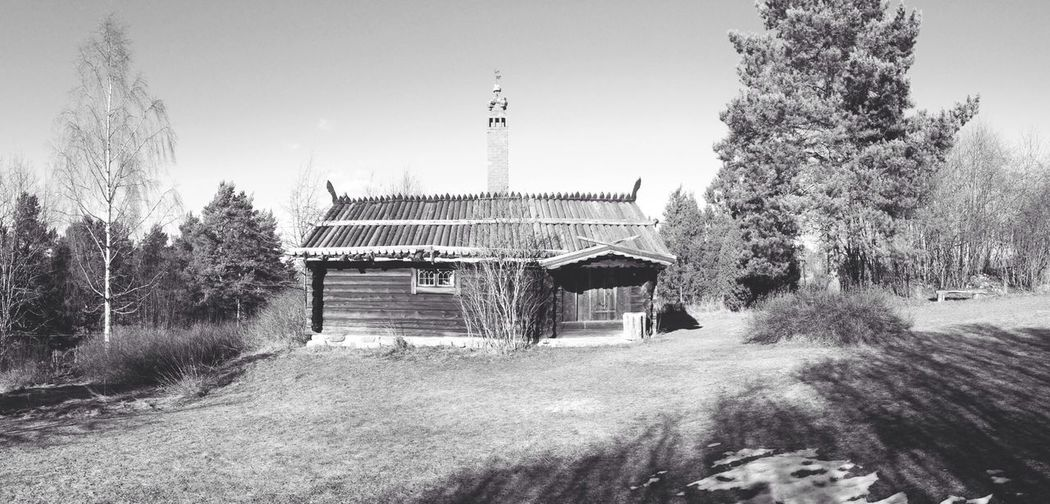 Here lived Karl Lärka, born 1892. One of Sweden's best photografers back in the days. Blackandwhite Panorama Photo