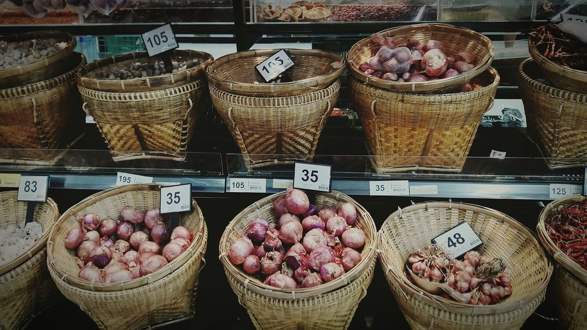 Market Supermarket Smartphonephotography EyeEm Gallery Food Ingredients Alliumascalonicum Onion Thaionion Thaionly