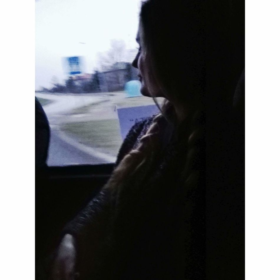 Memories. Followme Photography Simple Photography Willage Outdoors Winter Best  World Huawei P8 Lite Huawei Huaweiphotography Huaweishot Huaweip8photografie Girl Girly Memories Looking To The Other Side Look Lithuaniagirl Ilikethis Bus Driving Trip Photooftheday EyeEm Best Shots