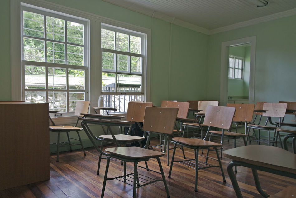 Classroom in Costa Rica - San Jose, Costa Rica Abandoned Absence Beauty Of Decay Chair Childhood Classroom Conformity Costa Rica Decay Desk Education Empty Indoors  Interior Learning Memories No People Nostalgia Old Run-down School School Life  Vintage Window Wood - Material