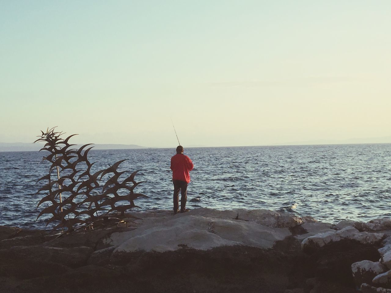Beautiful stock photos of fishing,  Beach,  Beauty In Nature,  Clear Sky,  Copy Space