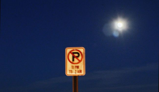 Overnight Success Communication Night Information Sign Outdoors Sky Pole Illuminated No People No Parking Sign