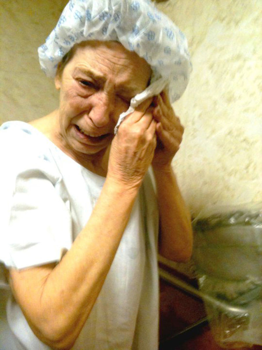 My mother tired and hopeless just before entering radiotherapy. She was brave and strong until the last minute. Cancer Close-up Crying Death Girl Power Healthcare And Medicine Holding Hopeless Portrait Radiotherapy Sadness Sorrow