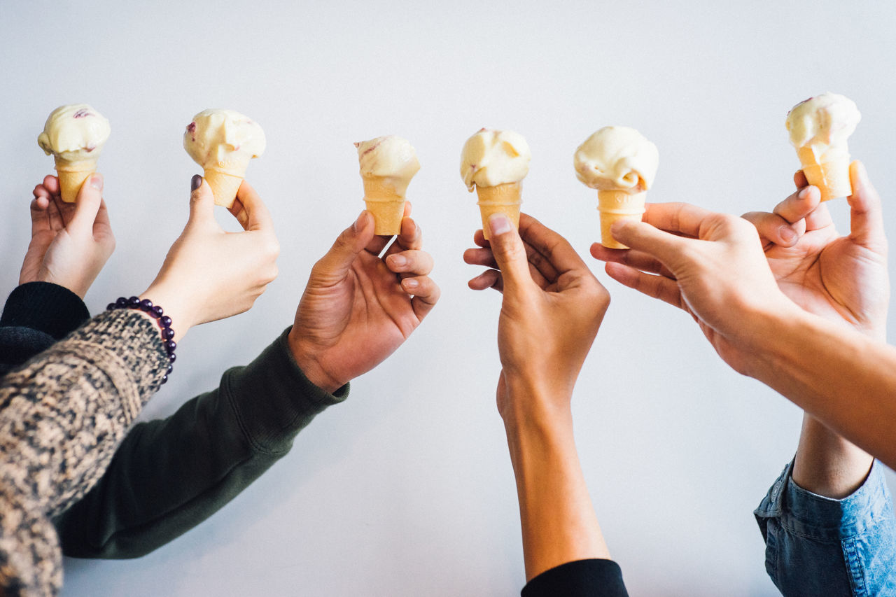 Adult Adults Only Celebration Celebratory Toast Close-up Food Food And Drink Friendship Holding Human Body Part Human Hand Ice Cream Icecream Men People Teamwork Togetherness Women
