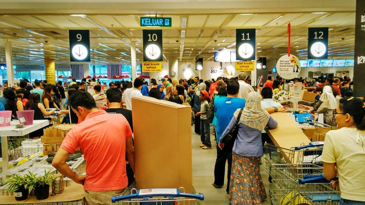Customers queuing up at ikea damansara malaysia eyeem for Ikea call center careers