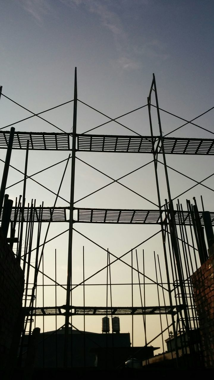 Silhouette Of Scaffolding