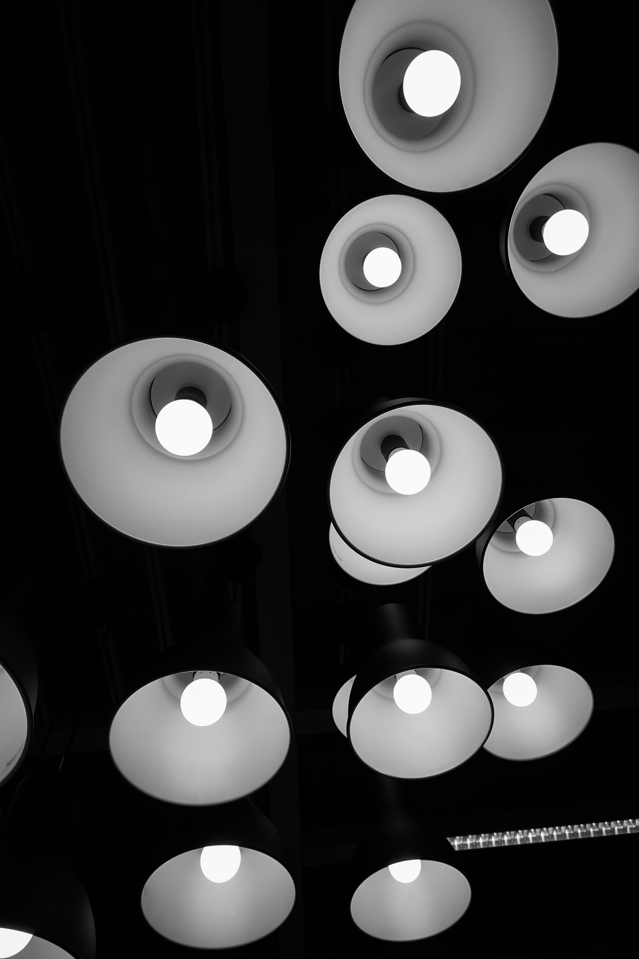 Lighting Architecture Arts Culture And Entertainment ArtWork Blackandwhite Heat - Temperature Indoors  Lamp Modern No People Power Supply