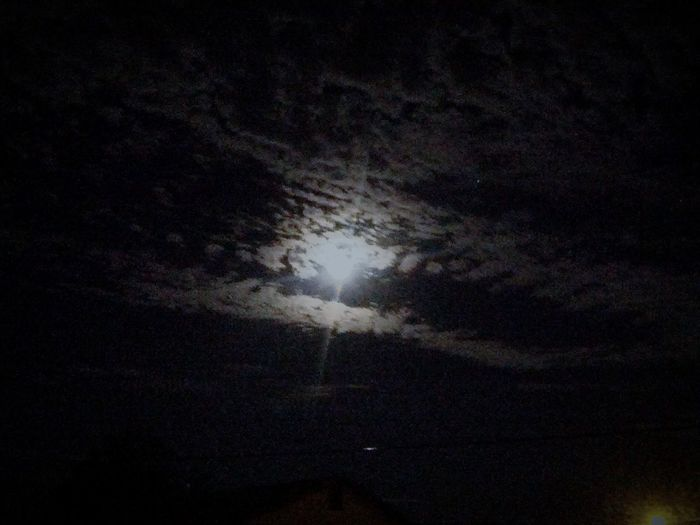 Full Moon Over Our House Beautiful Sky And Star