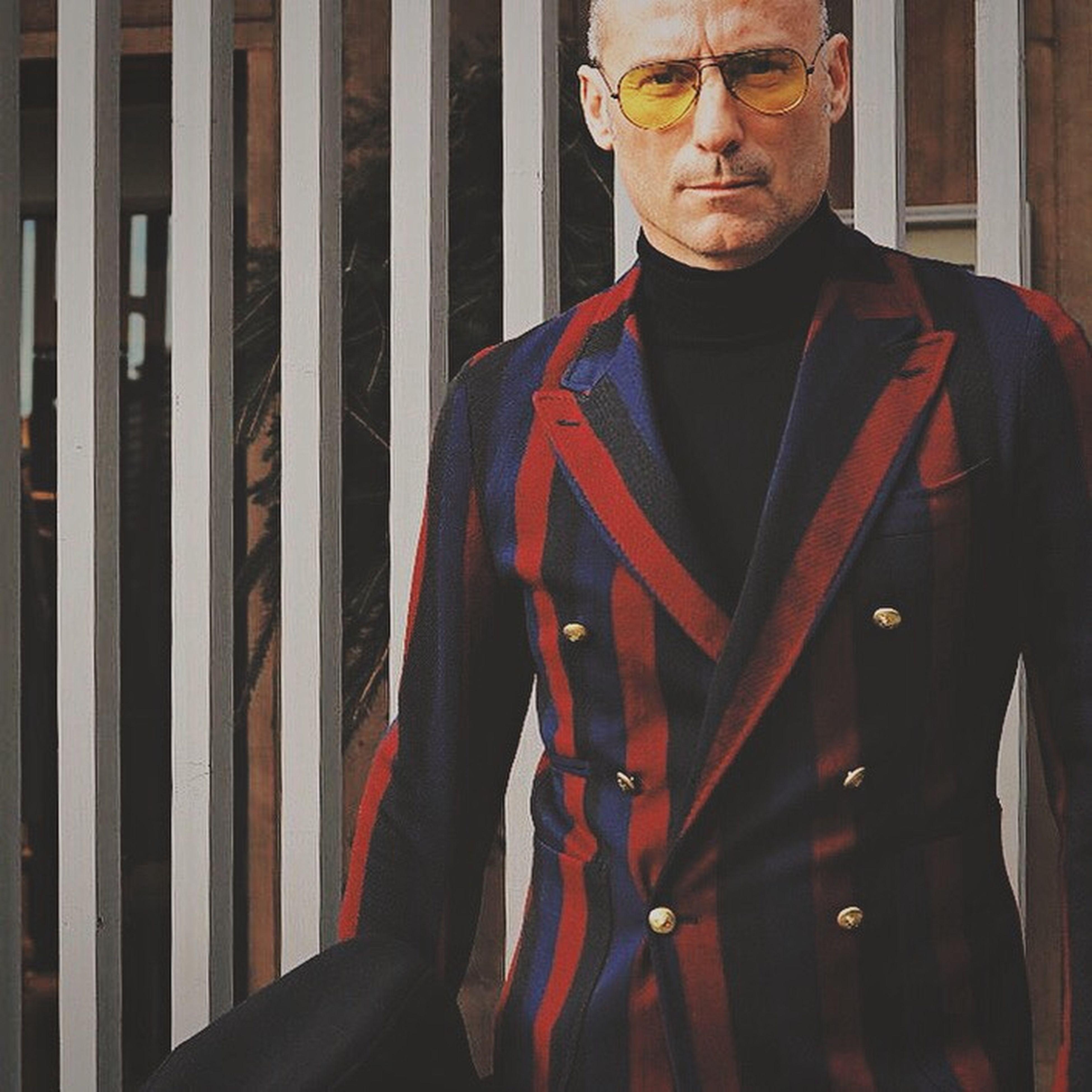 Stripes on stripes Fashion Elegance Everywhere Open Edit EyeEm Best Shots Street Portrait Streetfashion Portrait GoodFellas IMP At Pitti Uomo 87