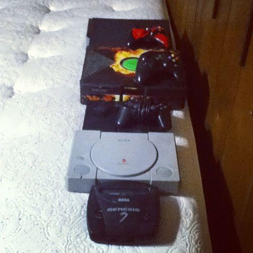 All my systems SegaGenesis3 Playstation Playstation2 Xbox Xbox360