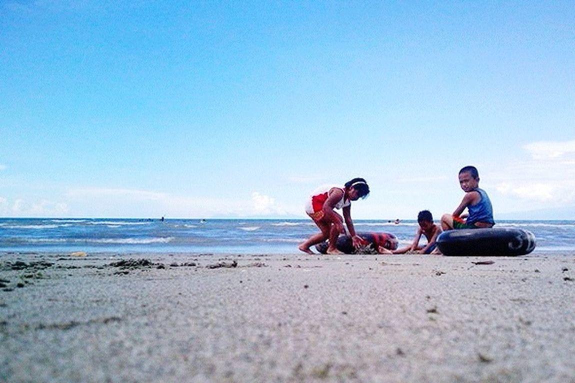 Childhood Simplicity Being A Beach Bum Enjoying The Sun Sand Sky Eyeem Philippines Weekend Beach
