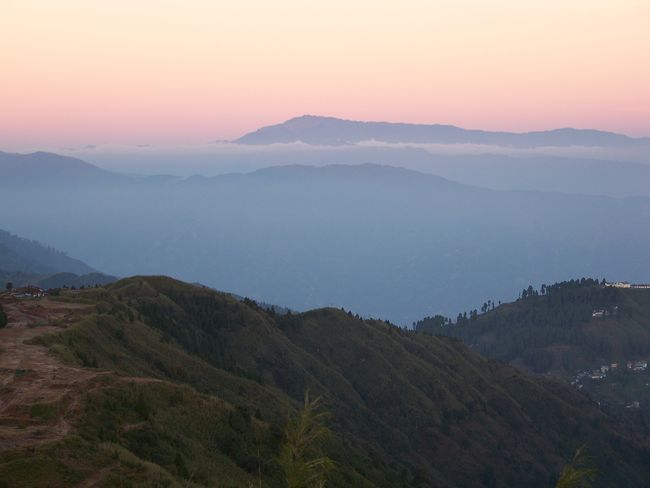 india darjeeling view from tiger hill ASIA Himalayas India Morning Light North India Sky And Clouds Tiger Hill Tranquility Beauty In Nature Beauty In Nature Darjeeling Day Fog Hazy  Landscape Mountain Mountain Range Nature No People Outdoors Scenics Sky Sunset Tranquility Tree
