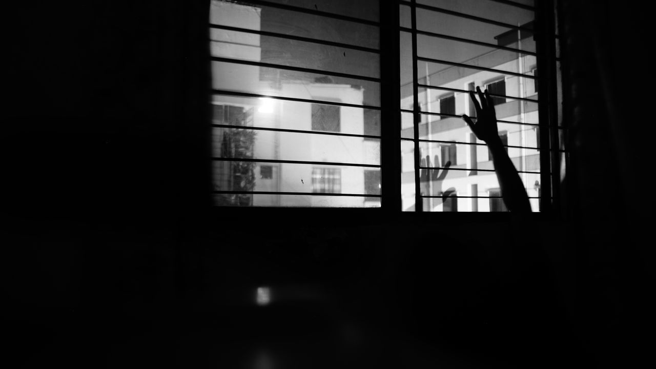 Window Indoors  Home Interior No People Architecture Clear Sky Sky Bangladesh Diaries Conseptual Conceptual Black And White Photography Welcome To Black
