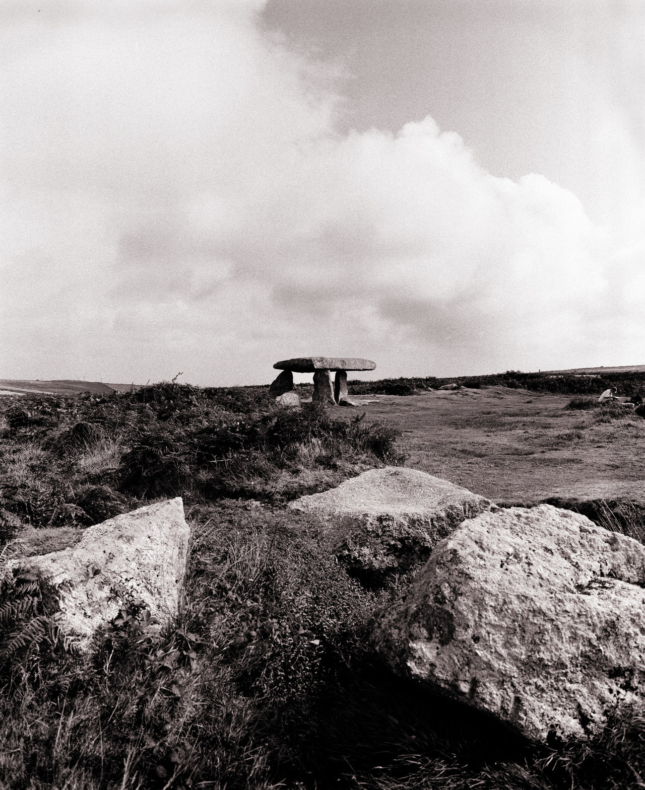 Blackandwhite Photography Cloud Countryside Horizon Over Land Landscape Lanyon Quoit Moorland Remote Sky Standing Stones Tranquil Scene