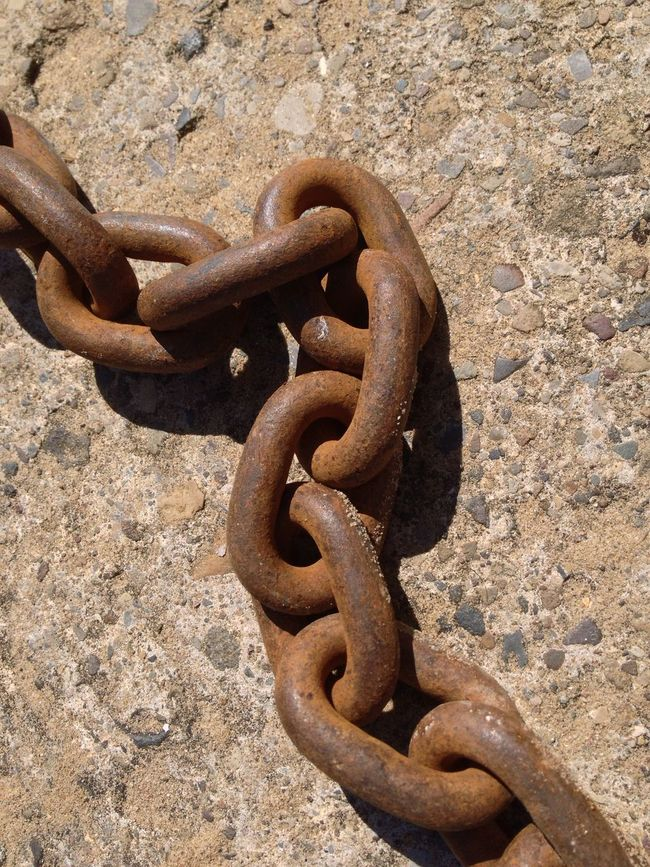Chain Close-up Concrete Connection Deterioration Iron - Metal Linked Metal Metallic No People Old Outdoors Protection Run-down Rusty Safety Security Strength